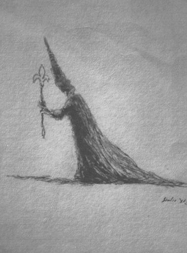 Salvador DALI - Drawing-Watercolor - The Alchimist