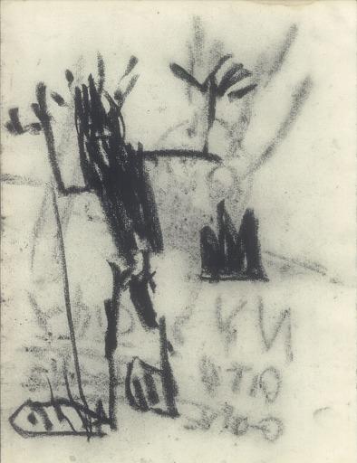Jean-Michel BASQUIAT - Dibujo Acuarela - DEMON
