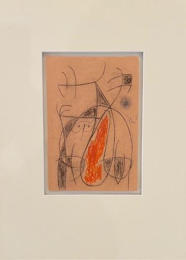 胡安·米罗 - 水彩作品 - Femme oiseaux