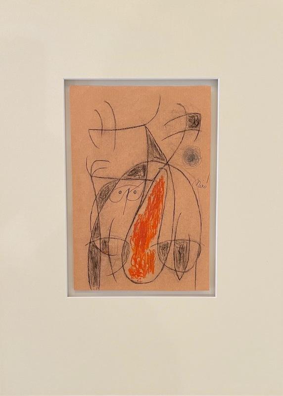 Joan MIRO - Drawing-Watercolor - Femme oiseaux