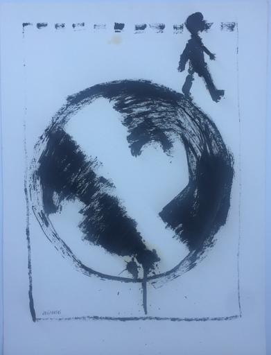 Stéphane JOSIFOVSKI - Disegno Acquarello - HOMME QUI MARCHE