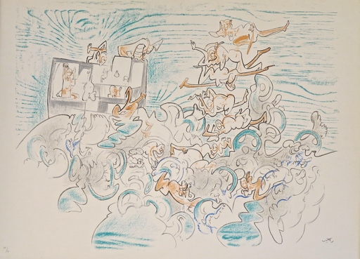 Roberto MATTA - Stampa-Multiplo - Five lithographies plate III