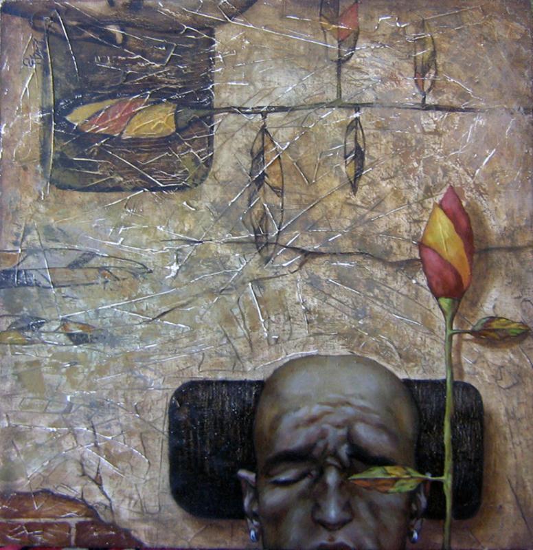 Maxim ORLITSKIY - Pintura - Thoughts in emptiness