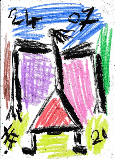 Harry BARTLETT FENNEY - Drawing-Watercolor - shoulders street style 3 (24 07 21)