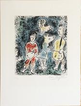 Marc CHAGALL - Estampe-Multiple - Les Artistes, 1977