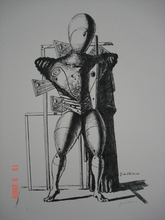 Giorgio DE CHIRICO - Grabado - Il Trovatore 1967