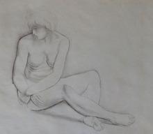 莫依斯·基斯林 - 版画 - Seated Nude / Nu Assis