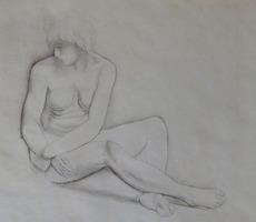 Moïse KISLING - Grabado - Seated Nude / Nu Assis