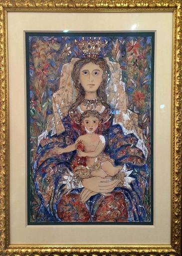 René PORTOCARRERO - Peinture - Virgin y Nino