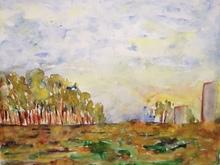 Patricia ABRAMOVICH - Zeichnung Aquarell - Trees In Yellow