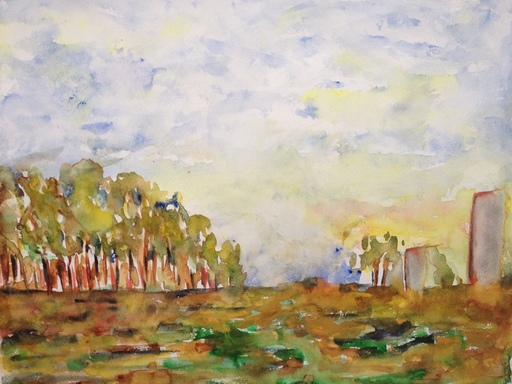 Patricia ABRAMOVICH - Dessin-Aquarelle - Trees In Yellow