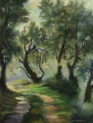 Felix PISSARRO II - 绘画 - Pathway Near Menton
