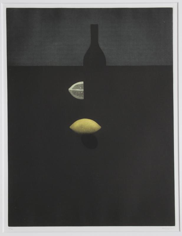 Yozo HAMAGUCHI - Stampa-Multiplo - Bottle With Lemon In The Darkenss