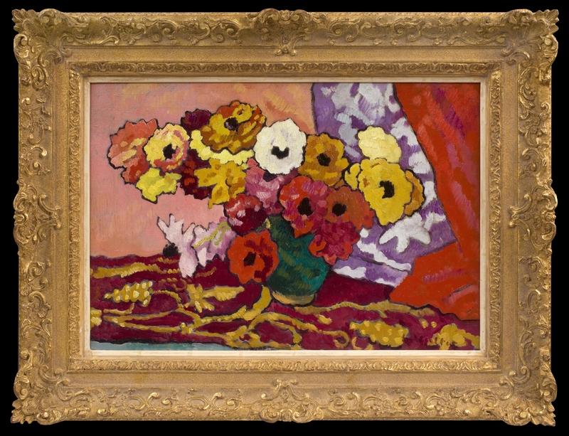 Louis VALTAT - Gemälde - Bouquet d'Anémones
