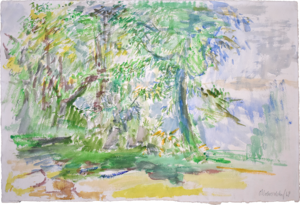 Oskar KOKOSCHKA - Drawing-Watercolor - Garden | Garten