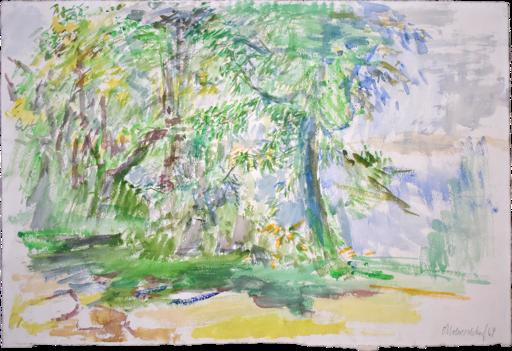 Oskar KOKOSCHKA - Dessin-Aquarelle - Garden | Garten