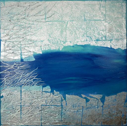Corine LESCOP - Peinture - Lac glacé à Okaido