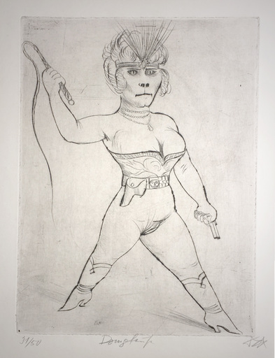 Otto DIX - Stampa-Multiplo - Dompteuse