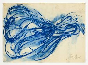 Toshimitsu IMAI - Painting - Bleu