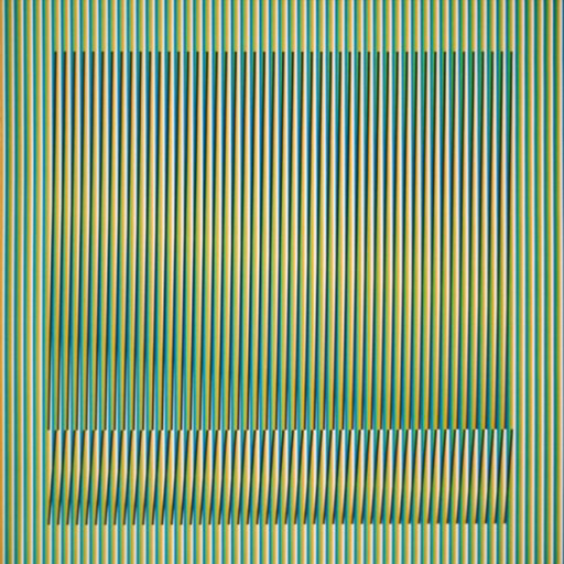 Carlos CRUZ-DIEZ - Estampe-Multiple - Induction Chromatique a double fréquence Série Orinoco 2