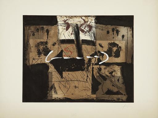 Antoni TAPIES - Print-Multiple - Flecha