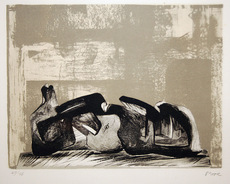 Henry MOORE - Print-Multiple - Reclining Figure Interior Setting
