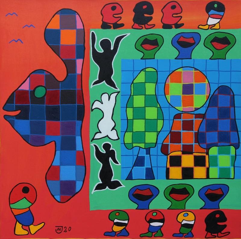Michael JANSEN - Painting - Positives Streben