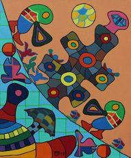 Michael JANSEN - Gemälde - Eine kleine Waldromanze