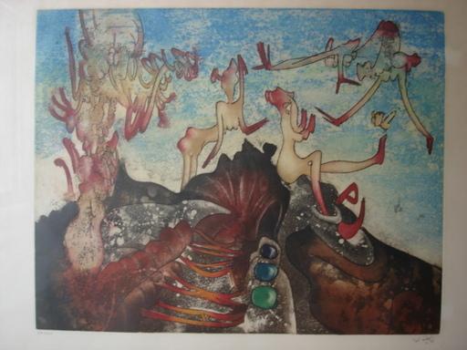 Roberto MATTA - Print-Multiple - La montagne en feu