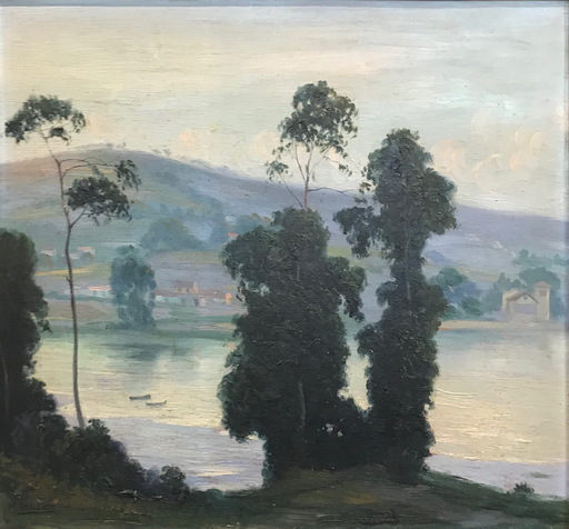 Manuel ABELENDA ZAPATA - Pintura - ARBOLES EN LA RIBERA