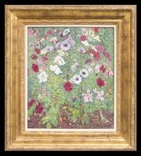 Henri MARTIN - Painting - Parterre de Fleurs