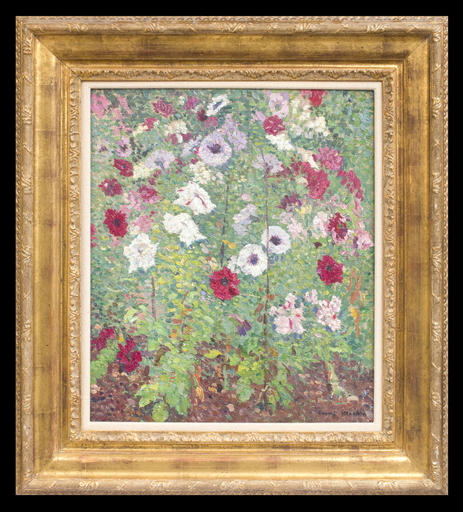 Henri MARTIN - Pintura - Parterre de Fleurs