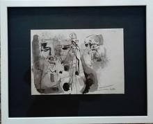 Hans BISCHOFFSHAUSEN - Dibujo Acuarela - Der Hafen (2.Fassung )