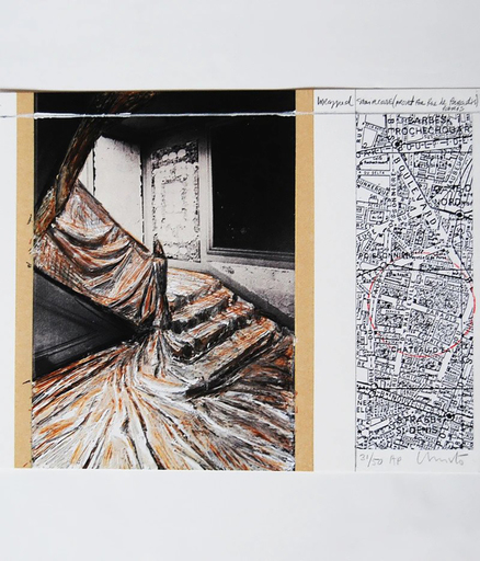 CHRISTO - Print-Multiple - Wrapped Staircase (Project for rue de Paradis)