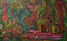 Ody SABAN - Gemälde - Escale aux rêves des artbres de la nuit