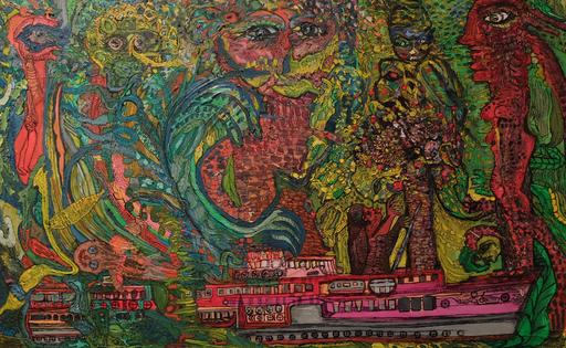 Ody SABAN - Painting - Escale aux rêves des artbres de la nuit
