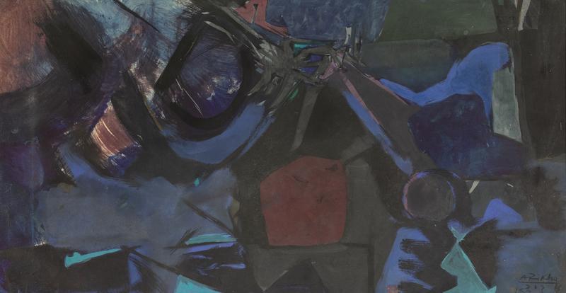 Avigdor ARIKHA - Drawing-Watercolor - Composition