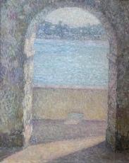 Henri LE SIDANER - Painting - La Porte de la mer, Villefranche-sur-Mer