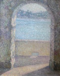 Henri LE SIDANER - Pittura - La Porte de la mer, Villefranche-sur-Mer