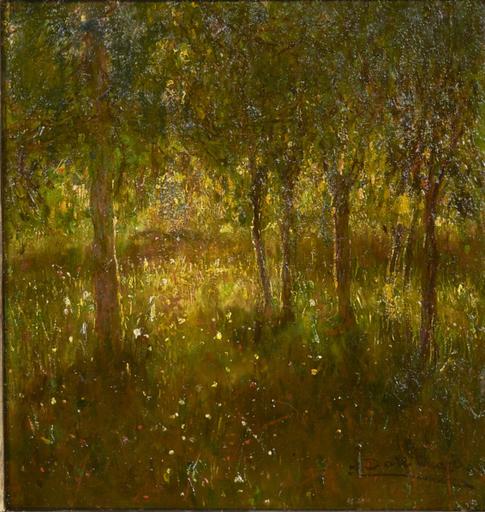 Angelo DALL'OCA BIANCA - Peinture - GIARDINO SEGRETO