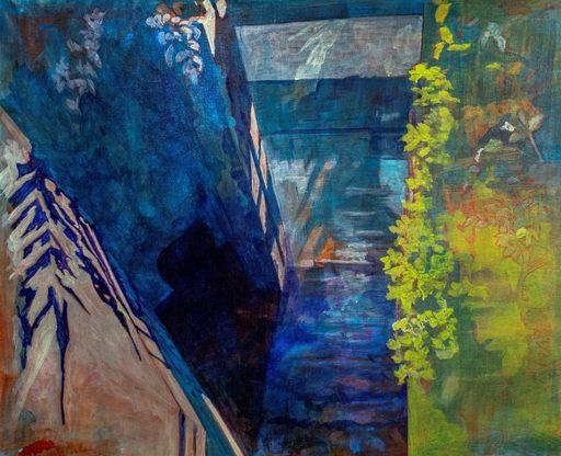 Aude MOUILLOT - Painting - « Étang 5 »
