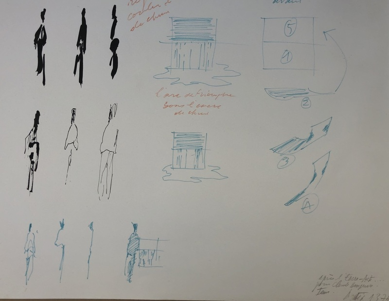 Jean DEGOTTEX - Drawing-Watercolor - REGARDER COULER L ENCRE 1974