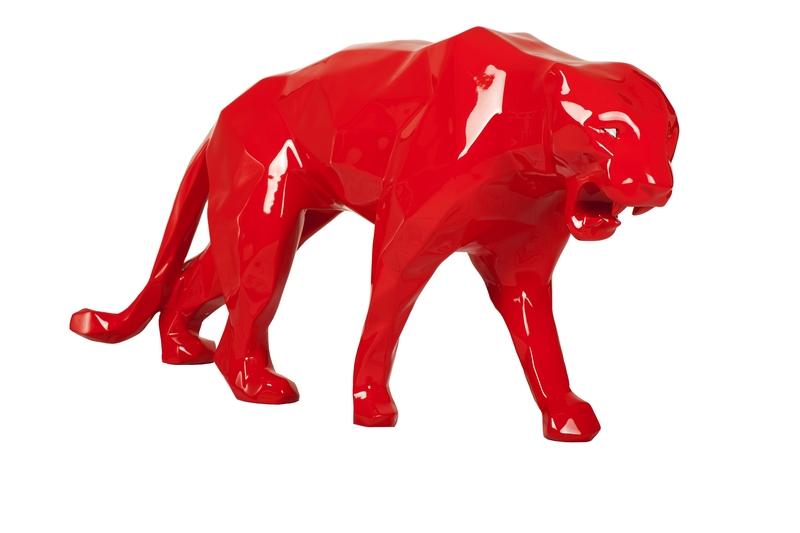 Richard ORLINSKI - Sculpture-Volume - Panthère (born wild) Rouge