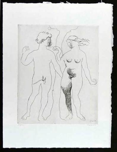 Marino MARINI - Grabado - Hommage a Dürer