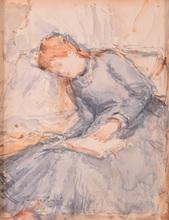 Berthe MORISOT - Peinture - Untitled (Lady Reading a Book)