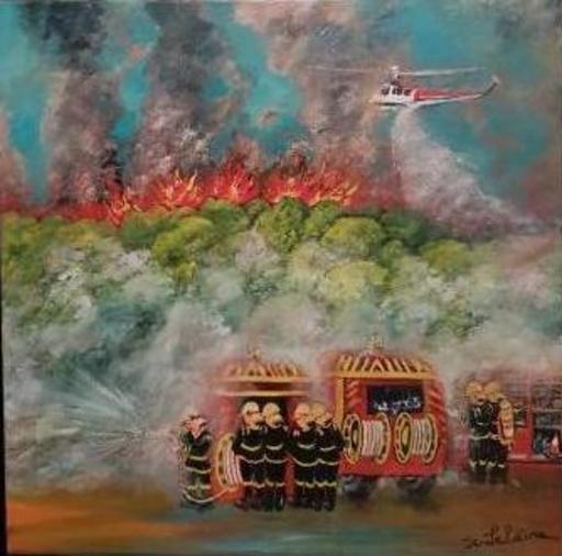 Jean-Claude LELIEVRE - Peinture - les soldats du feu