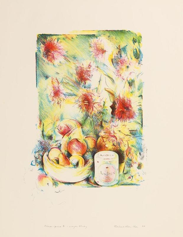Richard HAMILTON - Print-Multiple - FLOWER-PIECE B, CRAYON STUDY