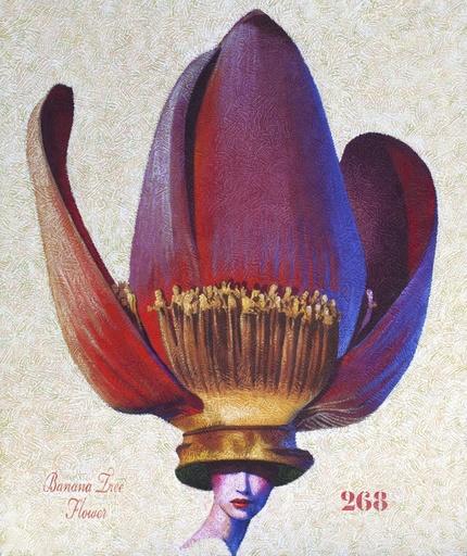 Yves CLERC - Peinture - N°268 - Banana Tree Flowers