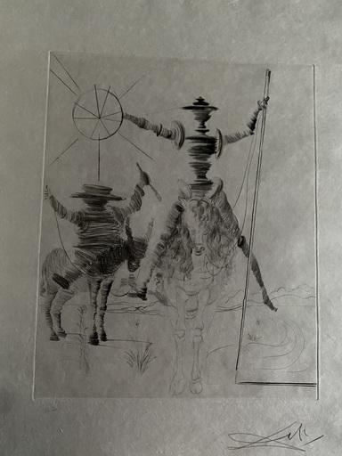 Salvador DALI - Estampe-Multiple - Don Quichotte und Sancho Panca