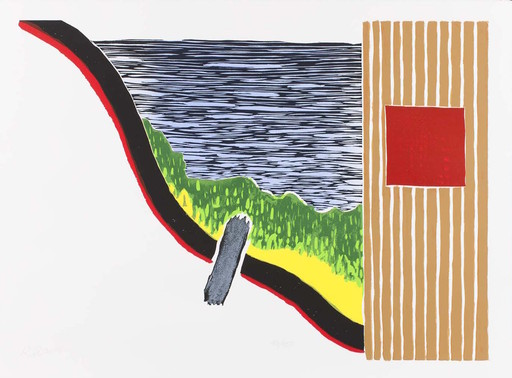 Roger RAVEEL - Druckgrafik-Multiple - La Côte d'azur / ingelijst